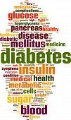 foto of diabetes  - Diabetes Word Cloud Concept - JPG