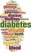 stock photo of sick kidney  - Diabetes Word Cloud Concept - JPG