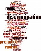 image of racial discrimination  - Discrimination Word Cloud Concept - JPG