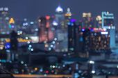 picture of skyscrapers  - Bangkok blurred abstract background lights - JPG