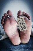 stock photo of deceased  - Death of the Russian economy - JPG