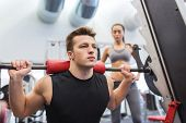 stock photo of barbell  - sport - JPG
