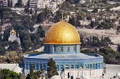 picture of aqsa  - Dome of the Rock in Jerusalem old city - JPG