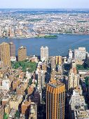 foto of empire state building  - Aerial view of New York City from the Empire State Building - JPG