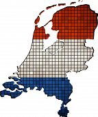 picture of holland flag  - Netherlands map grunge mosaic, 