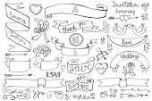 picture of stroll  - Doodles love decor elements set - JPG