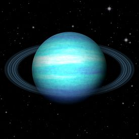 pic of uranus  - Abstract Uranus planet generated texture or background - JPG
