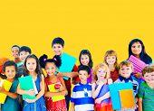 foto of innocent  - Diversity Children Friendship Innocence Smiling Concept - JPG