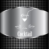 pic of cocktail menu  - beautiful cocktail glass design vector menu background - JPG