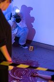 picture of crime scene  - Picture presenting visual inspection of the crime scene - JPG