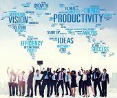 image of efficiencies  - Productivity Vision Idea Efficiency Growth Success Solution Concept - JPG