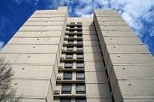 image of illinois  - Looking up the Park Tower Apartment Building in Joliet - JPG