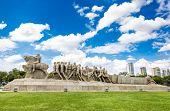 pic of bandeiras  - Bandeiras Monument in Ibirapuera Park - JPG