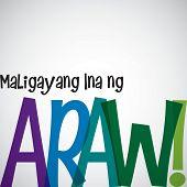stock photo of filipino  - Bright typographic Filipino  - JPG