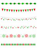 stock photo of snow border  - Collection on christmas borders  - JPG