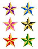 stock photo of x-rated  - Colorful star clip art collection isolated on white background - JPG