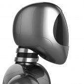 stock photo of cyborg  - Cyborg bot futuristic robot dummy metallic chrome concept - JPG