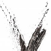 picture of charcoal  - Grungy texture painted black charcoal pencil - JPG