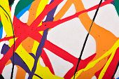 foto of strip  - Abstract acrylic modern painting fragment - JPG