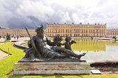image of versaille  - Royal Garden in the Versailles Castle Paris France Unesco - JPG