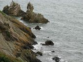 foto of ireland  - A view of the sea from the coast of Ireland  - JPG