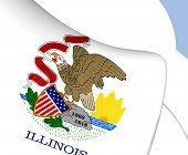 image of illinois  - 3D Flag of Illinois - JPG