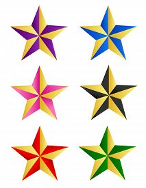 image of x-rated  - Colorful star clip art collection isolated on white background - JPG