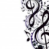 image of g clef  - music background - JPG