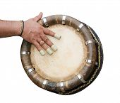 Hand Hitting Indian Drum