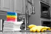 foto of partially clothed  - colorful sponges - JPG