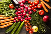 Fresh Vegetables. Colorful Vegetables Background. Healthy Vegetable . Assortment Of Fresh Vegetables poster