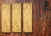 image of wood design  - Old paper over an old wood background - JPG