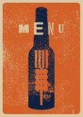 Beer Menu Typographical Vintage Style Grunge Poster Design. Retro Vector Illustration. poster
