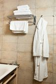 foto of housecoat  - This is a closeup of a towels and bathrobes - JPG