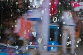 Water Splash Shower- Background Wet poster