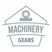 Machinery Logo. Simple Illustration Of Machinery Logo For Web poster