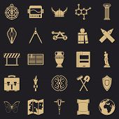 Archeology Icons Set. Simple Set Of 25 Archeology Icons For Web For Any Design poster