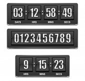 stock photo of analog clock  - Vector countdown timer - JPG