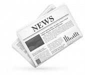 stock photo of grayscale  - Newspaper icon - JPG