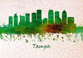 Skyline Of Tampa Florida, City On Tampa Bay poster