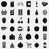 Different Beverage Icons Set. Simple Style Of 36 Different Beverage Icons For Web For Any Design poster