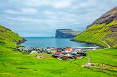 Tjornuvik beautiful town in the Faroe Islands, sit on the north coast of Streymoy, Beautiful Scandi poster