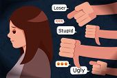 Sad Girl Has Problem Of Mockery And Bullying On The Internet poster