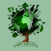 Earth Day Concept For Safe And Green Globe poster
