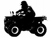image of four-wheeler  - Vector illustration of four wheeler biker  - JPG