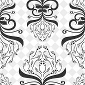 image of white flower  - Seamless decorative flower pattern - JPG