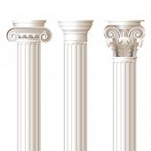 picture of ionic  - 3 columns in different styles  - JPG