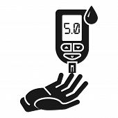 Glucose Meter Icon. Simple Illustration Of Glucose Meter Vector Icon For Web Design Isolated On Whit poster