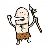 cartoon tribesman