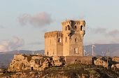 stock photo of tarifa  - Ancient arabian tower in Tarifa Andalusia Spain - JPG
